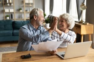 happy couple finding resolution via family law