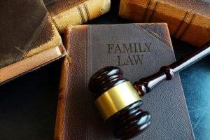gavil resting top of family law books